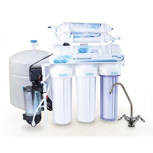 Aqualine RO-6P, фильтр обратного осмоса с помпой