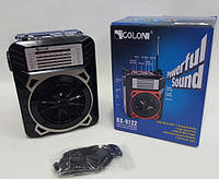 Портативный радиоприемник Golon RX-9122 с фонариком