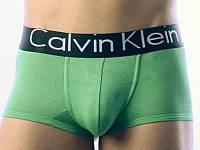 Мужские трусы боксеры Calvin Klein black, зеленые
