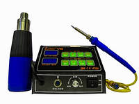 Паяльная станция Lukey V6 с сенсорной панелью с паяльником + фен