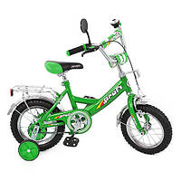 Детский велосипед 12 дюймов P 1242 Profi, зеленый