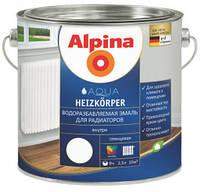 Эмаль для радиаторов Водоразбавляемая жаростойкая Alpina Heizkörper
