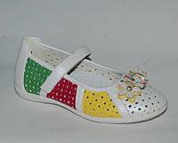 Кожаные туфли для девочек от Шалунишка с ортопедической стелькой р.26,28,29