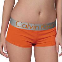 Женские трусики-шорты Calvin Klein steel, оранжевые