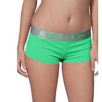 Женские трусики-шорты Calvin Klein steel, зеленые