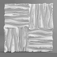 """Настенная гипсовая 3D панель """"Wood"""""""