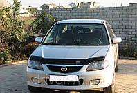 Дефлектор капота (мухобойка) Mazda 323 S/F 2000-2003, на крепежах