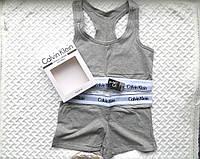 Спортивный комплект Calvin Klein шорты, серый