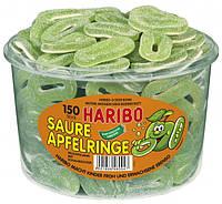 Конфеты Яблочные кольца в сахаре Харибо Saure Apfelringe  Haribo  1200гр.150шт.