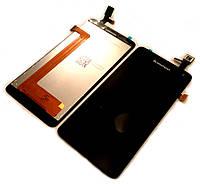 Дисплей для Lenovo S660/ S668 + touchscreen, чёрный, оригинал (Китай)
