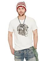 Светлая футболка с принтом Ralph Lauren