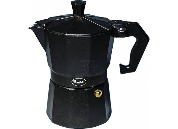 Кофеварка гейзерная Con Brio CB-6403 (3 чаш,150мл), фото 2