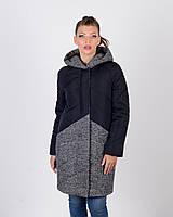 Зимняя куртка женская с твидом