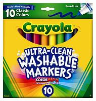 Фломастеры Сrayola широкие легкосмываемые, 10 шт.