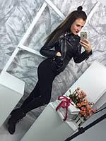 """Женская модная кожаная куртка """"Зара"""" (2 цвета), фото 1"""