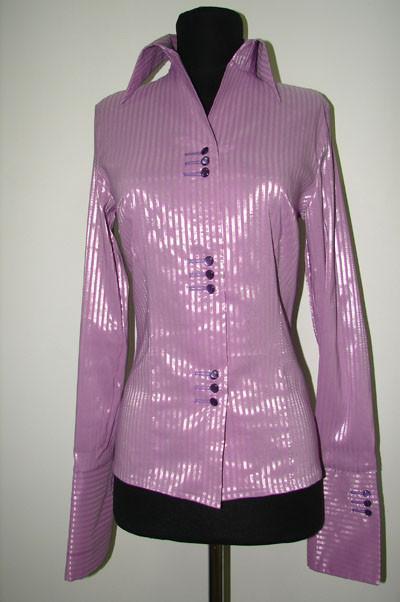 сиреневая рубашка р04