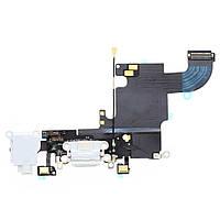 Шлейф разъема зарядки, разъема гарнитуры, микрофон iPhone 6S (4.7') белый