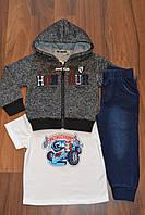 Трикотажные костюмы троечки для мальчиков.Размеры 1-5.Фирма CHILDHOOD.Венгрия