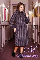 Женское шерстяное пальто батальных размеров (50-60) арт. 313 Maila+Unito Тон 19