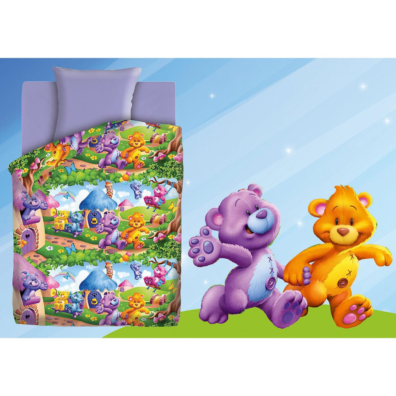 Подростковый постельный комплект «Радужные мишки», Непоседа
