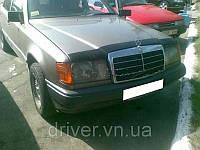 Дефлектор капота (мухобойка) Mercedes-Benz E-Class (W124) 1985-1992 , на крепежах