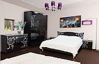 Спальня 4Д  Фелиция Нова черная