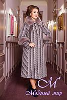 Женское красивое шерстяное пальто большие размеры (50-60) арт. 313 Maila+Unito Тон 50