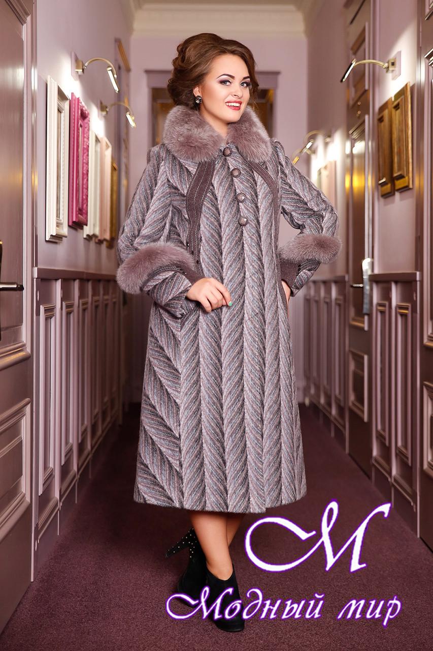 Женское красивое шерстяное пальто большие размеры (50-60) арт. 313 Maila+Unito Тон 50 - Модный мир в Житомире