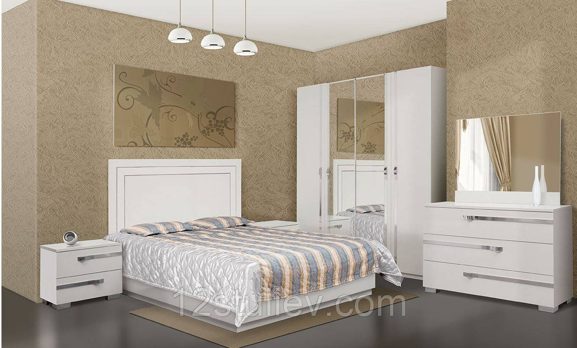 Спальня 4Д  Экстаза белая