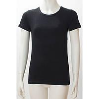 Топ футболка Фокс (корот.рукав) 38р. хлопок-92% лайкра 8% черный