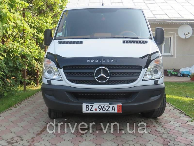 Дефлектор капота (мухобойка) Mercedes-Benz Sprinter 2006-2013
