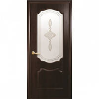 """Двери ПВХ """"Вензель"""" ПО Каштан с рисунком"""