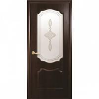 "Двери ПВХ ""Вензель"" ПО 2000х700х35мм Каштан с рисунком"