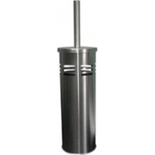 S-E11301-18  Щетка д/унитаза,нерж.,цилиндр,матовая