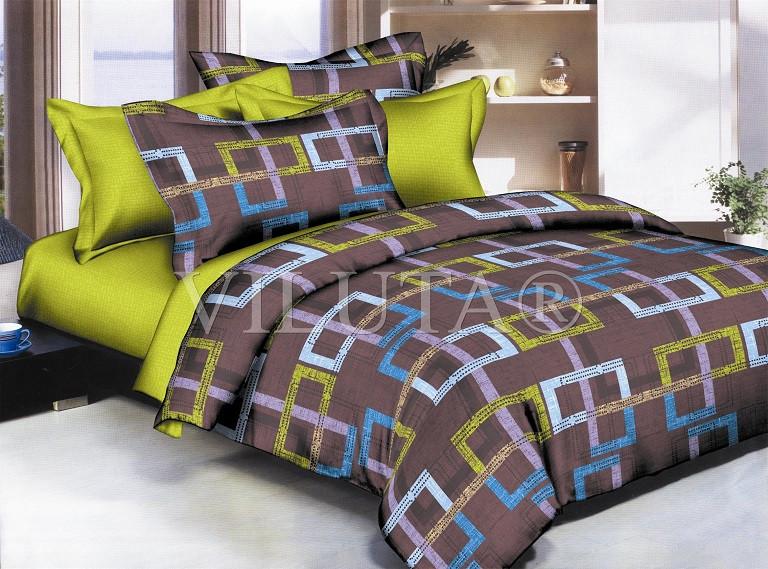 Постельное белье Вилюта сатин двухспальный 606