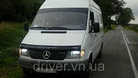 Дефлектор капота (мухобойка) Mercedes-Benz Sprinter TDI 1995-2002, на крепежах