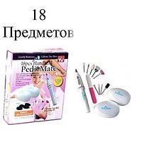 Набор для ногтей и педикюра Pedi Mate, педикюрный набор, набор маникюра, уход за ногтями, электрическая пилочка для ногтей, уход за стопами ног