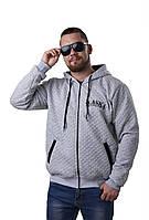 Весеняя Мужская куртка из стеганного трикотажа размеры 50-52