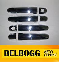 Накладки на ручки дверей (хром) тюнинг BYD F3, F3R, Бид Ф3, Бід Ф3Р