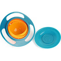 Тарелка непроливайка Неваляшка, тарелка непроливайка, детская тарелка GYRO BOWL, непроливайка чашка, детская посуда, посуда тарелка игрушка