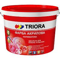 Краска акриловая полуматовая ТМ «TRIORA», 3 л