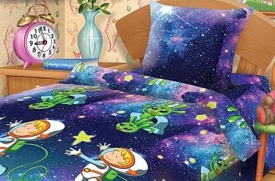 Подростковый постельный комплект «Космонавт», Непоседа