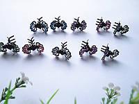Маленькие заколочки, крабики-цветочки для прически