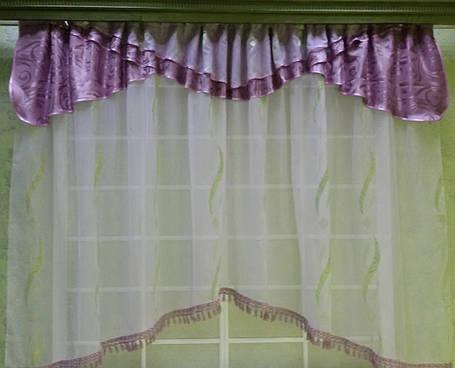 """Кухонный комплект штор """"Сюзен Сирень"""", фото 2"""