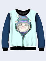 Женский 3D-свитшот Cat in zip