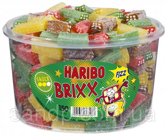 Желейные конфеты Бриксы Харибо Haribo  1200гр.150 шт., фото 2