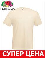 Мужская Футболка Классическая Fruit of the loom Телесный 61-036-60 M