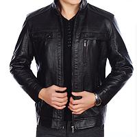 Мужская кожаная куртка. Модель 2021