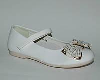 Туфли ортопедические школьные Шалунишка белые бантик, р.31,33,34,35,36 для девочек