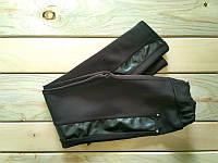Лосины на девочку с кожаными вставками 134 см (8-10 лет)